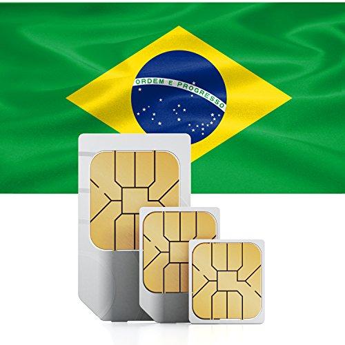 Brasilien 3GB Prepaid Daten SIM Karte - mit 3GB mobiles Internet für 30 Tage