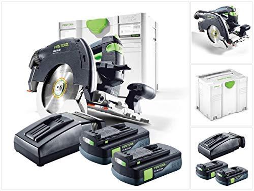 Festool HKC 55 Li EB Basic Plus Akku Handkreissäge 18V (201358) 160 mm Brushless im Systainer + 2x 3,1Ah Akku + Ladegerät