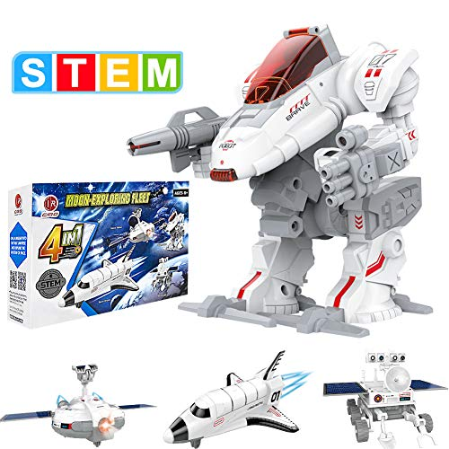 CIRO Space Toys 4 in 1 STEM Toys Solar Robot Kit Space Explorer Learning & Science Engineer Building...