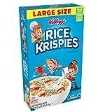 Kellogg's Rice Krispies, Breakfast Cereal, Original, Large Size, 18oz Box(Pack of 6)