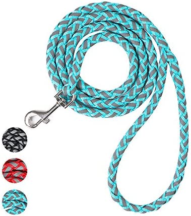 Reflective Rope Dog Leash 5 Foot Lightweight Strong Nylon Braided Training Leash for Large Medium product image