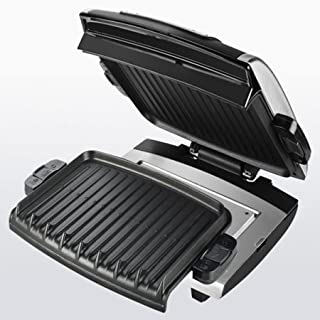 96 in Square Cooking Surface Silver Digital Grill with Removable Grill Plates by George Foreman 100