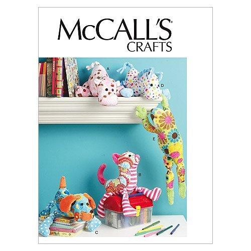McCall's 6485 - Patrones de Costura para Confeccionar Peluches, diseño de Perro, Gato, Caballo,...