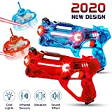 Hiphop Toy 2-Player Kids Laser Tag Gun Game with Flying Drone Target, 2 Laser Blasters and 2 Wireless Drones, Infrared Shooting Games with LEDs and Sounds, Best Gift for Boys Ages 5, 6, 7, 8, 9, 10