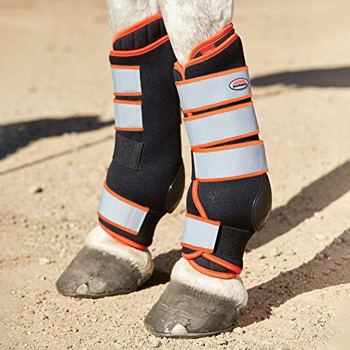 Weatherbeeta Therapy Tec Stable Chaps Cob Black Silver Red