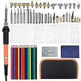 ILS – 79 piezas/juego de puntas para bolígrafo de leña, plantilla, soldadura, hierro, herramientas kit para pirografía eléctrica soldadura set de hierro