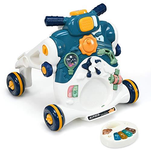 GOPLUS 3-in-1 Lauflernwagen, als Spielzentrum Lauflernhilfe Rutschauto, Abnehmbares Spielbrett, mit Licht &...