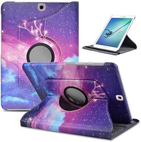 DETUOSI Cover per Samsung Galaxy Tab S2 9.7 Cover 360° Gradi Supporto Duro Antiurto Custodia per SM T815 (Rosa Cervo)