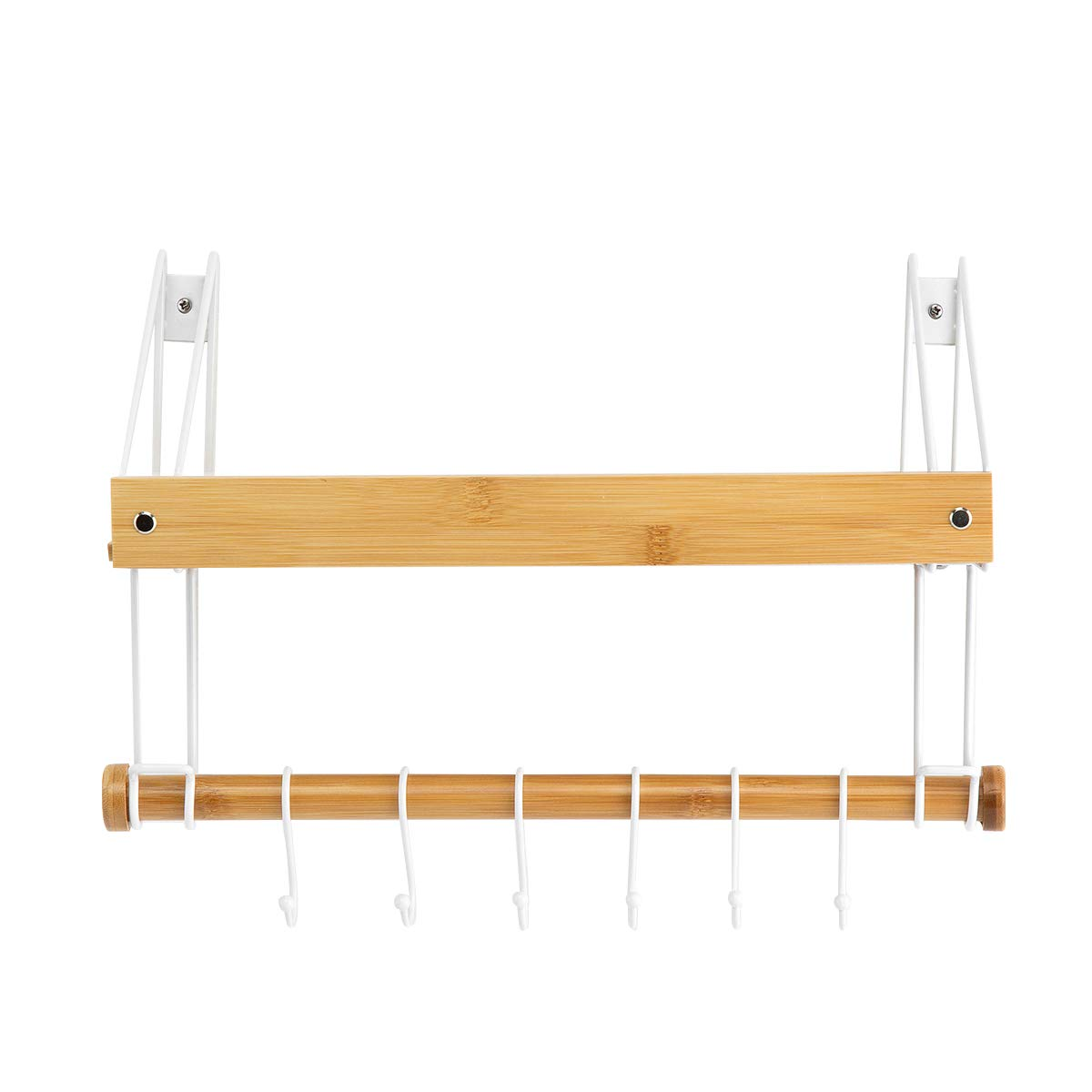 Mensola bagno spazio libero di perforazione portasciugamani monostrato in alluminio con gancio hardware pendente bianco 50 cm