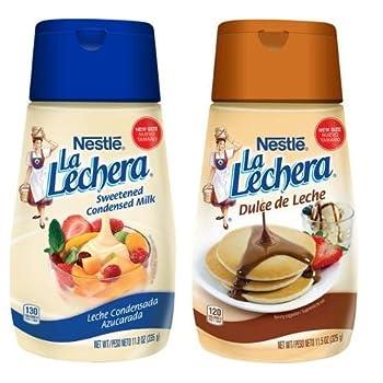 La Lechera Dulce de Leche and Sweetened Condensed Milk Combo Pack