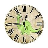 Número de Reloj Mini diseño de patrón Impreso Reloj de Pared Cama de Estar Comedor Dormitorio Escritorio en el hogar Arte Dormitorio Sin tictac