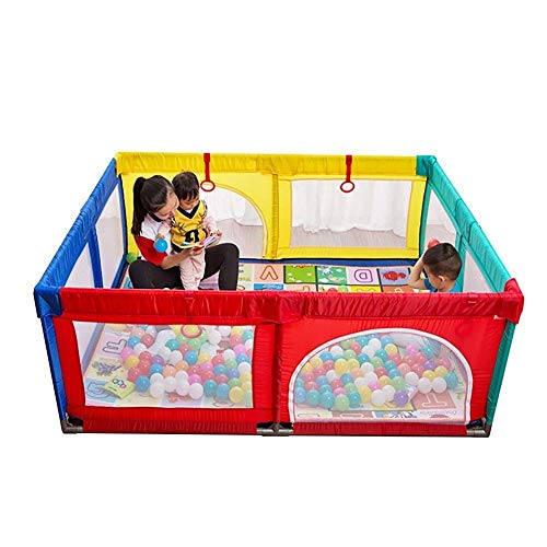 LEILEI Valla Infantil Parque Infantil Bebé Extra Grande con colchoneta Niño pequeño Patio portátil para niños 200x250x70cm (Color:B)