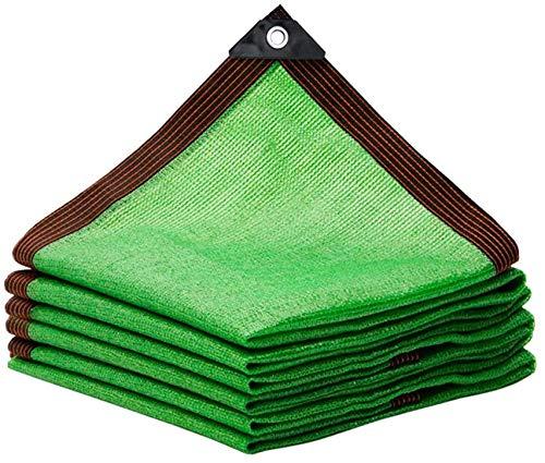 Toldos Exterior Toldo Camuflaje Tela de sombra para 80% de cifrado de protector solar verde espesado Patio de protector solar Patio Balcón al aire libre Planta Sombreado Neto 23 Tamaños personalizable