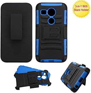 LG Nexus 5X Case, Bastex Hybrid Heavy Duty Protection Rugged Blue Rubber Silicone Cover Hard Plastic Black Advanced Armor Holster Kickstand Case for LG Nexus 5X