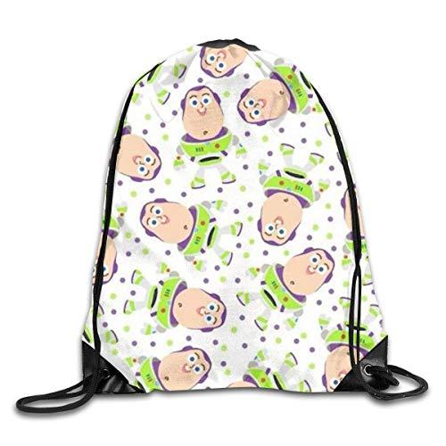 HuangYongHongPODFPO Buzz Lightyear Drawstring Bag Print Shoulder Bags Sackpack Sport Gym Backpack Storage Bag