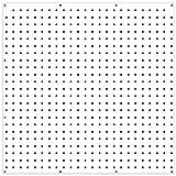 WallPeg PEGBOARD Panels Peg Board Plastic Pegboard Kit 24'x24' (3, White)