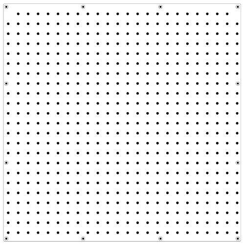 "WallPeg PEGBOARD Panels Peg Board Plastic Pegboard Kit 24""x24"" (3, White)"