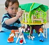 Toys of Wood Oxford Hölzernes Puppenhaus Hölzernes Baumhaus mit Möbeln - Puppenhaus und Zubehör...