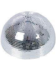 Media bola de discoteca GLANZ con motor de seguridad, Ø 40cm, plateada - Efectos de luz / Decoración fiestas - showking
