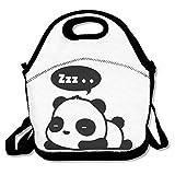 Sleepy Panda - Bolsa térmica reutilizable para el almuerzo