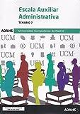 Temario 2 Escala Auxiliar Administrativa Universidad Complutense de Madrid