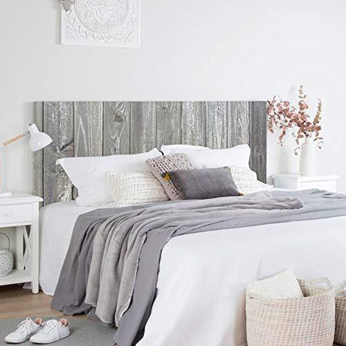 setecientosgramos Cabecero Cama PVC | WoodGrey | Varias Medidas | Fácil colocación | Decoración Dormitorio (115x60cm)
