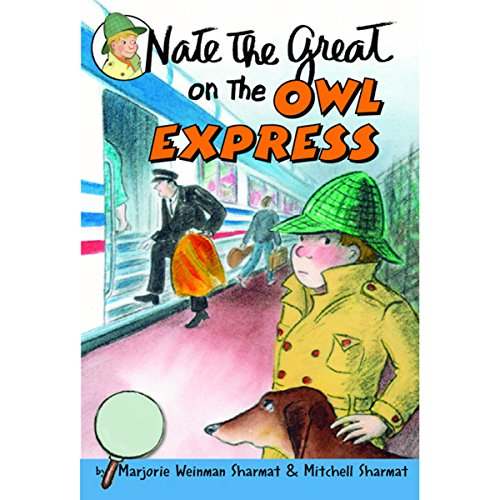 Nate the Great on the Owl Express audiobook cover art