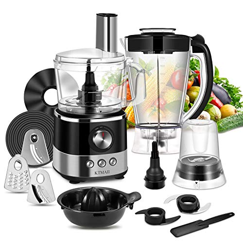 KTMAII Food Processor Blender Combo, Food Chopper with 7-Cup...