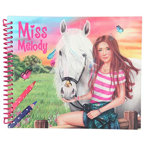 Depesche 10441 kleurboek Miss Melody, Dress up Your Horse, ca. 18,5 x 15 x 1,5 cm, bont