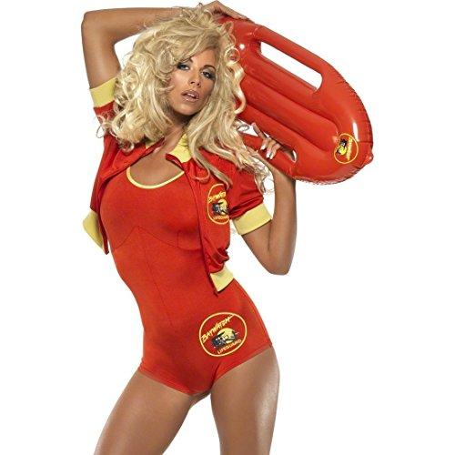 NET TOYS Maillot de Bain de Carnaval Alerte à Malibu Set pour déguisement de Sauveteur Taille M 40/42