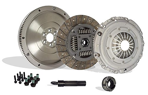 Clutch Kit Compatible With TT Golf Beetle Jetta Gls Glx Gti Tdi Base Gl Sportline Sport 1998-2006 1.8L l4 GAS DOHC 1.9L L4 DIESEL SOHC Turbocharged (FWD; 5 speed only; 17-059SFW)