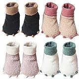 Monster Baby Boy Girl Toe Slippers Socks Shoes - Dinosaur Child Kid Slippers Babies Kids Girl's Boys Toddler Floor Socks Shoes Slipper Stay-on One Size