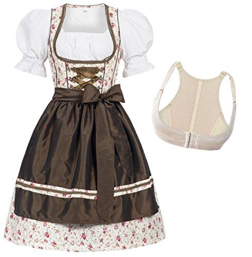pequeño y compacto Conjunto de cuero Gaudi Dirndlerna Disfraz tradicional tirolés Vestido Oktoberfest alemán Moda…