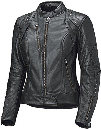 Held Asphalt Queen II Damen Motorrad Lederjacke Schwarz 38