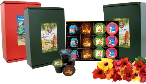 K-cup Coffee of the Month Club, Pure Kona and Kona Hawaiian K-cups Shipped Monthly for Six Months, Gift for Christmas, Mothers Day, Fathers Day, Birthdays, Corporate Gifts and All Occasions