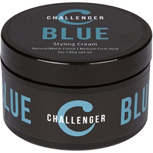 Challenger Blue - Matte Styling Cream - 3 oz - Medium-Firm Hold - Best Hair Product for short-medium length hair - Professional hair product by Challenger Hair Care