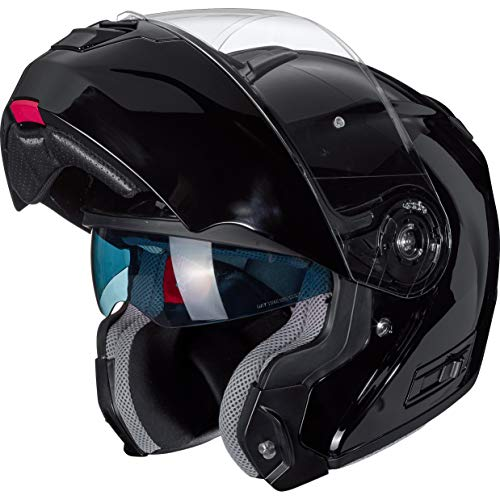 XS Nexo Klapphelm Motorradhelm Helm Motorrad Mopedhelm Carbon Travel II Klickverschluss XL Schwarz 1.500 g effektive Bel/üftung klares kratzfestes Visier gro/ßes Carbonhelm mit Sonnenblende