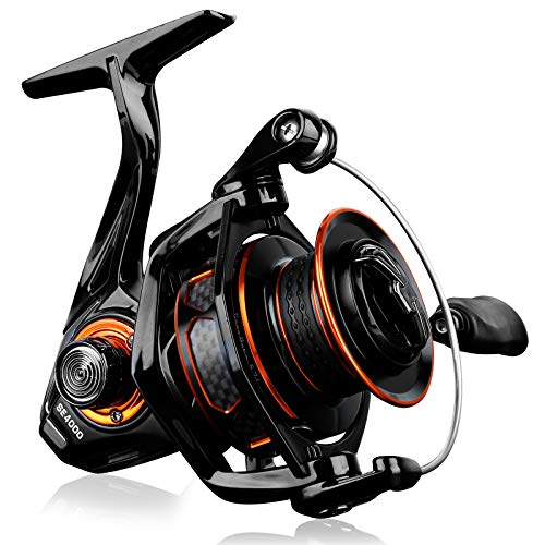PLUSINNO Fishing Reel, Light Weight Ultra Smooth Powerful Spinning Reels - with 5.7:1 High-Speed Gear Ratio Faster Line Retrieve,Carbon Fiber22LB Max Drag for Freshwater and Saltwater Fishing