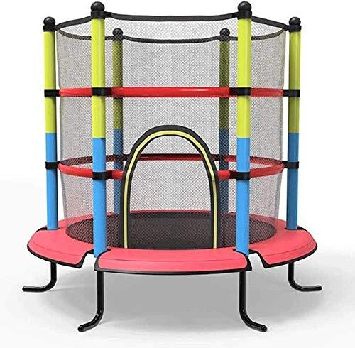 KMILE Niños trampolín al Aire Libre 55 pulgidos niño Interior trampolín, niños Interior con Red de protección Bebé Trampolín Adulto Adelgazamiento para niños Fitness