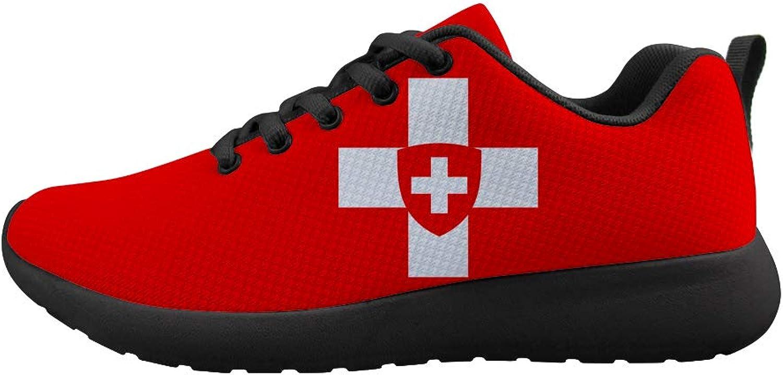 Owaheson Cushioning Sneaker Trail Running shoes Mens Womens Swiss Flag Switzerland National Emblem