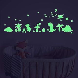 Glow in The Dark Stars Dinosaur Jurassic Jungle Wall Stickers,Dino Wall Decals,Birthday Baby Shower Gifts for Baby Nursery...
