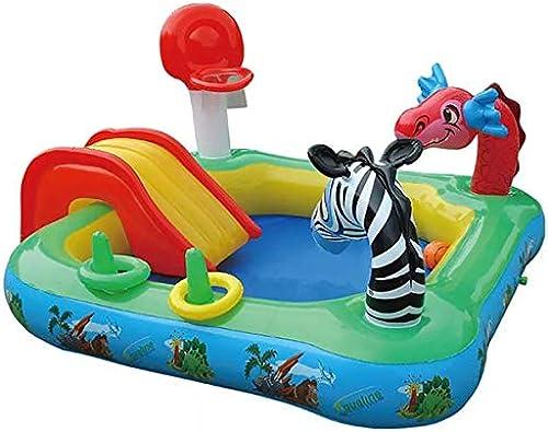 WNUVB Größer Spielrutsche-Pool Tier Multifunktions-Kinderbecken