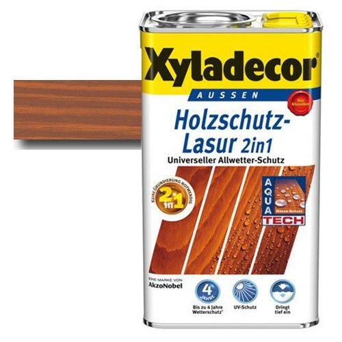 Xyladecor® Holzschutz-Lasur 2 in 1 Teak 2,5 l - Wetterschutz | farbbeständig | Dünnschicht-Lasur