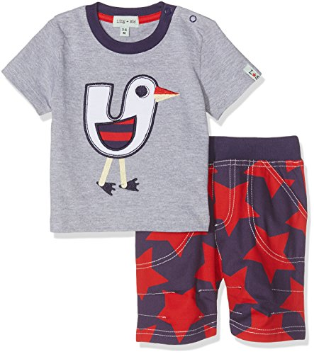 Lilly and Sid Baby-Jungen Applique Top//Reversible Joggers Set Bekleidungsset