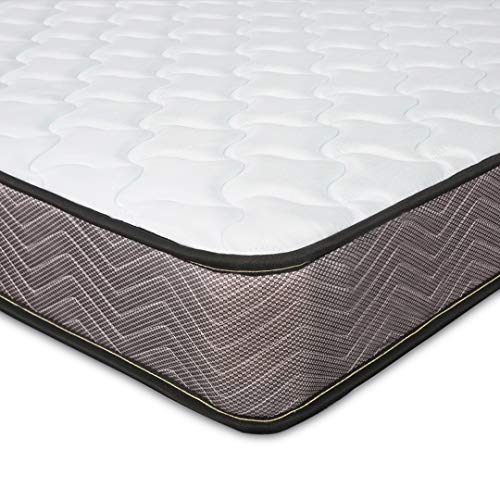 Kono Small Double Mattress, 4FT Mattress with Memory Foam and Spring 3D Breathable Quilted Knitting Fabric Fire Resistant