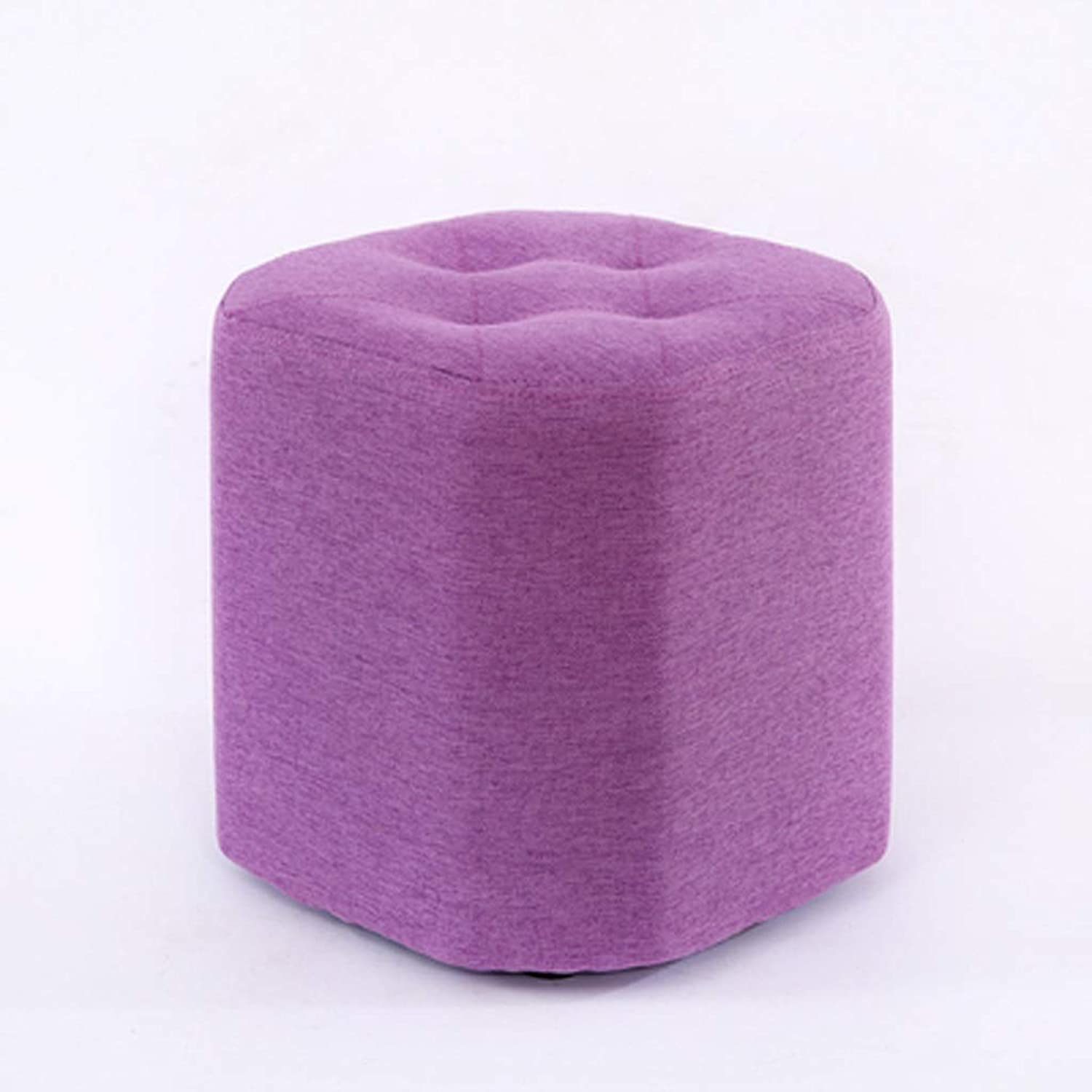 LSXLSD Small Stool Home Fabric Stool Change shoes Stool Fashion Creative Sofa Coffee Table Stool Living Room Simple Lazy Small Bench.