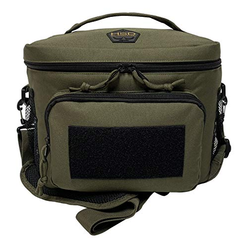 HSD Lunch Bag, Insulated Cooler, Large Thermal Lunch Box Tote with MOLLE/PALS Webbing, Adjustable Padded Shoulder Strap, for Tactical Men Women Adults (Ranger Green)