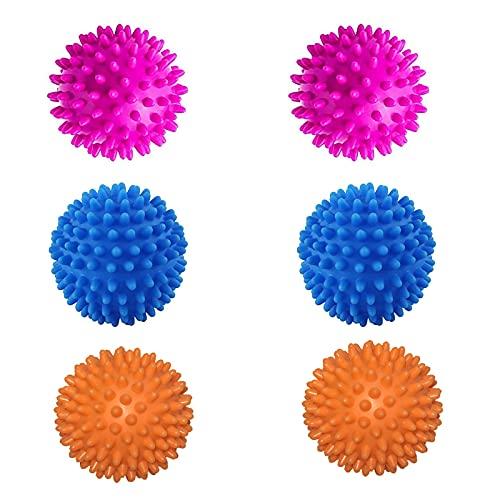 6 Piezas de Bolas de Secado, Bola de Lavado, Bola de Secado para Secadora, Bolas de Secado Reutilizables, Bolas para Secadora, Adecuado para Lavar Ropa Edredón en Lavadora (3 Colores)