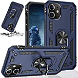 STORM BUY Phone Case Compatible for [ iPhone 12 Pro Max ], Back Cover with [Shock Absorption] Protection, Kickstand Ring Blue Case for iPhone 12 Pro Max, 6.7 inches-KKBL