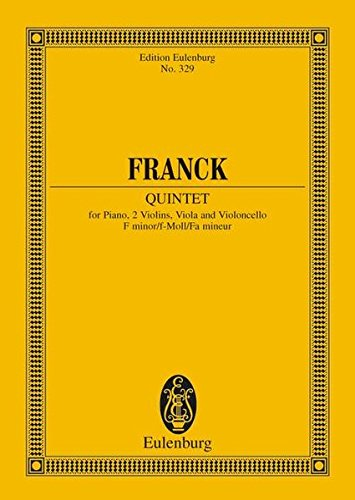 Klavierquintett f-Moll: Klavier und Streichquartett. Studienpartitur. (Eulenburg Studienpartituren)